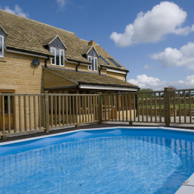 Unwind in the gardens, pool and hot tub